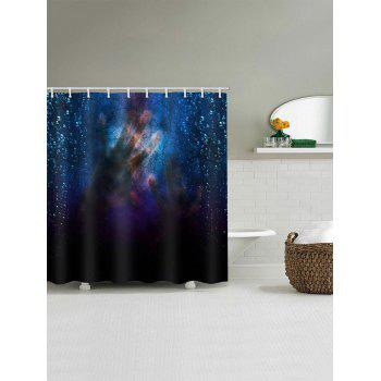 Hands Shadow Print Waterproof Shower Curtain - multicolor W59 X L71 INCH