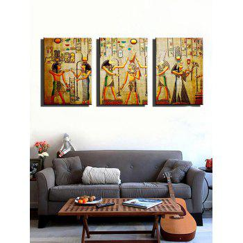 African Tribe Print Unframed Canvas Paintings - multicolor 3PCS X 24 X 35 INCH( NO FRAME )