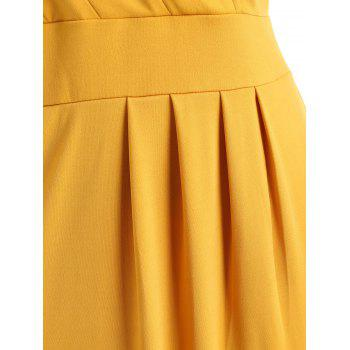 Plus Size Sheath V Neck Dress - BRIGHT YELLOW 3X