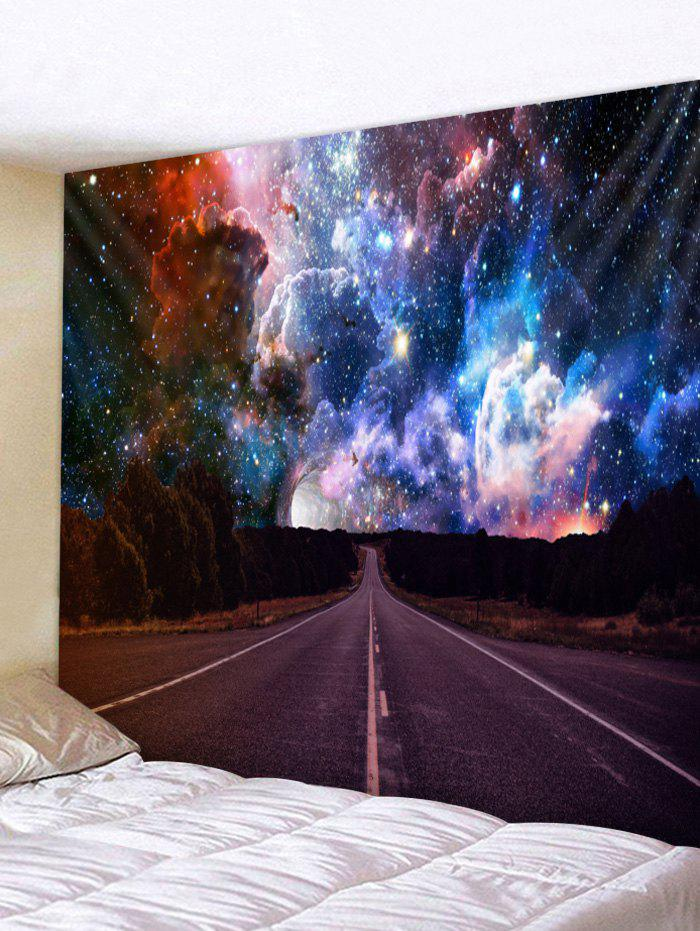 Highway Galaxy Print Tapestry Wall Art - multicolor W79 X L59 INCH