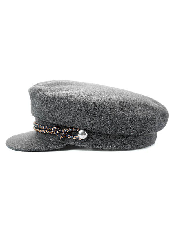 Solid Color Winter Army Hat - GRAY