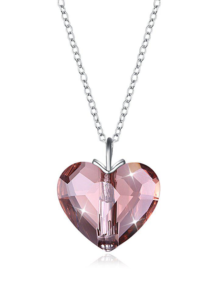 Stylish Crystal Heart Gift Necklace - multicolor