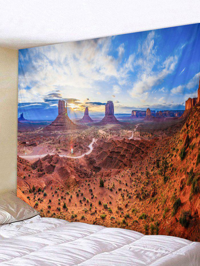 Sunlight Scenic Print Tapestry Wall Art - multicolor W91 X L71 INCH