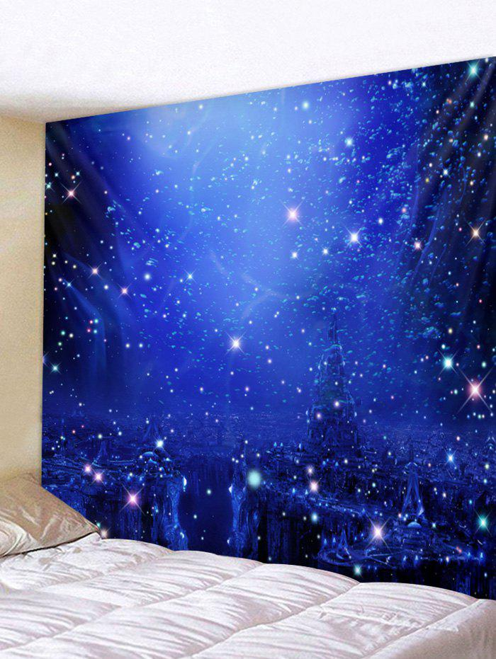 Starry Sky Pattern Wall Tapestry Art Decor - BLUE W79 X L59 INCH
