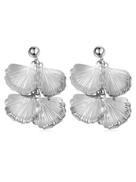 Leaves Design Alloy Dangle Earrings - SILVER