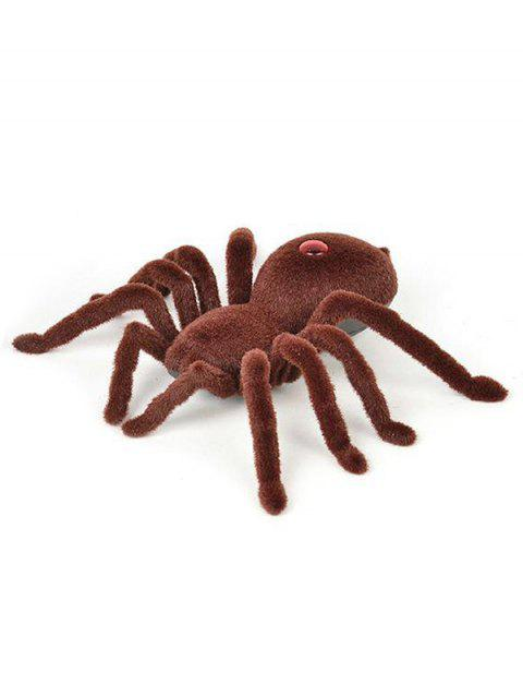 Halloween Party Infrared Remote Control Spider - BROWN