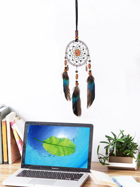 Feathers Beads Handmade Dream Catcher - multicolor
