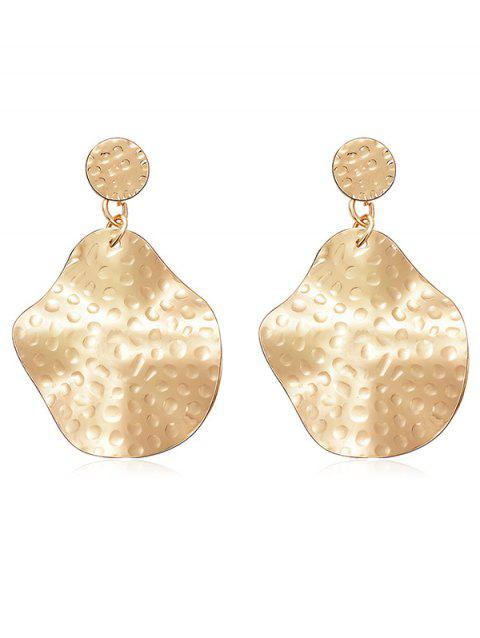 Irregular Geometric Shaped Dangle Earrings - GOLD