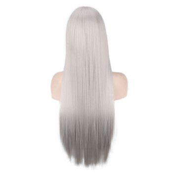 Long Side Bang Straight Synthetic Anime Cosplay Wig - GRAY CLOUD
