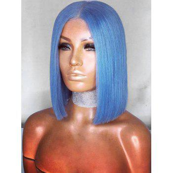 Medium Middle Part Straight Anime Cosplay Synthetic Wig - SKY BLUE