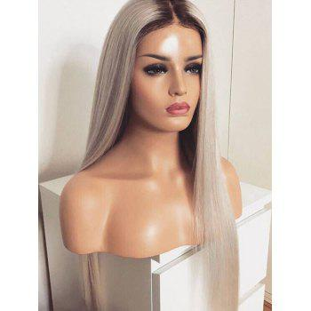 Heat Resistant Synthetic Long Ombre Straight Wig - multicolor