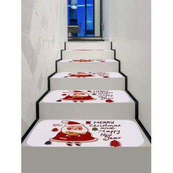 Cartoon Father Christmas Print Stair Floor Rugs - multicolor 5PCS X 28 X 9 INCH