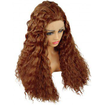 Long Water Wave Party Synthetic Lace Front Wig - HALLOWEEN ORANGE 24INCH