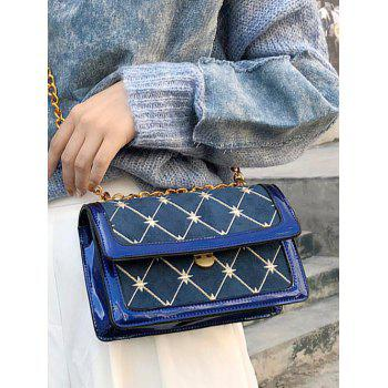 Geometric Pattern Going Out Crossbody Bag - BLUE