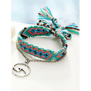 Bohemian Foot Jewelry Knitted Ankle Bracelet - DEEP SKY BLUE