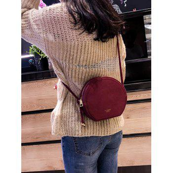 PU Leather Minimalist Crossbody Bag - RED WINE
