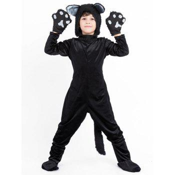 Parent Child Halloween Dog Costume Set - BLACK BOY-M