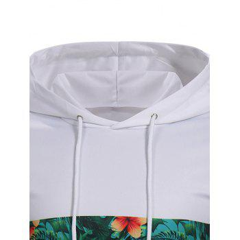 Fruit Letter Printed Pullover Hoodie - WHITE L