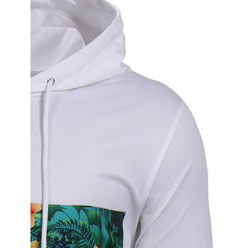 Fruit Letter Printed Pullover Hoodie - WHITE XL