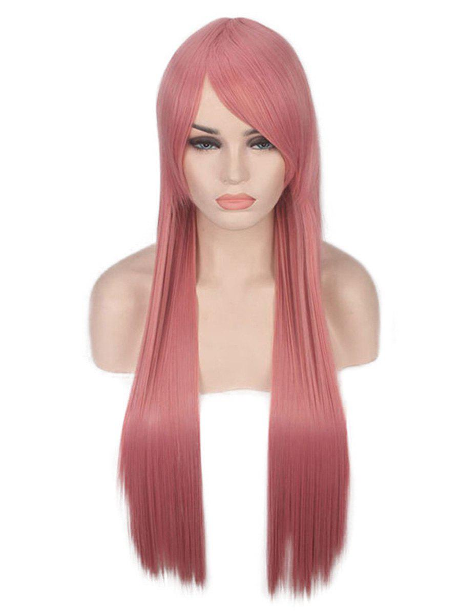 Long Incliend Bang Straight Party Lolita Synthetic Wig - PINK