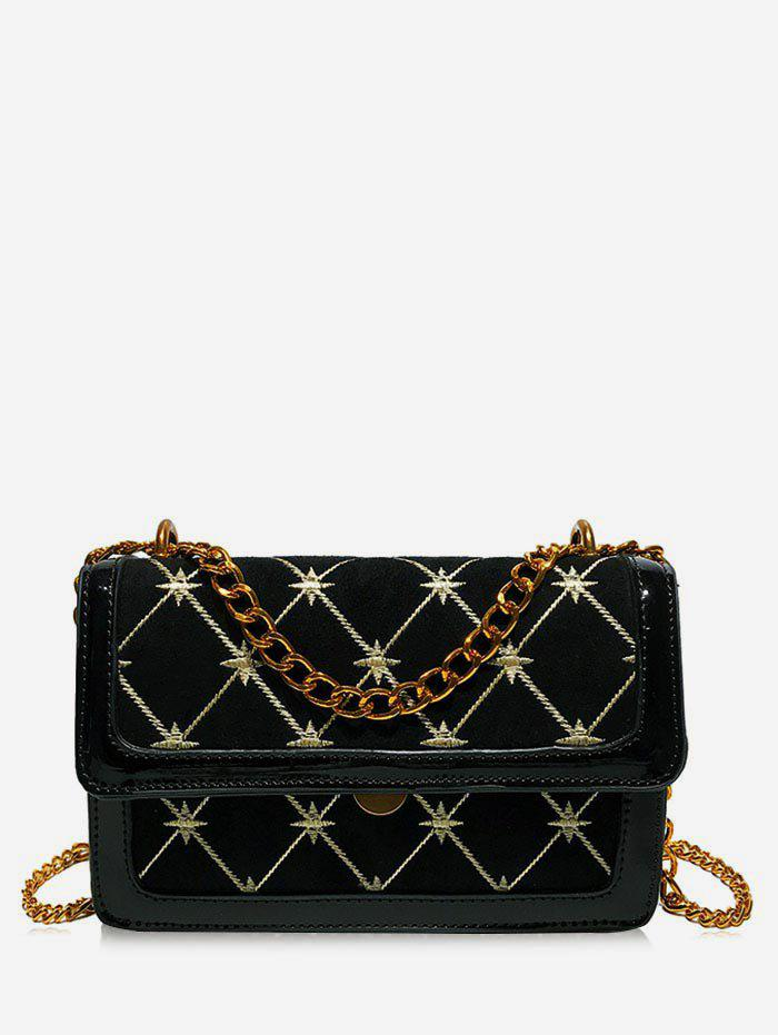 Geometric Pattern Going Out Crossbody Bag - BLACK