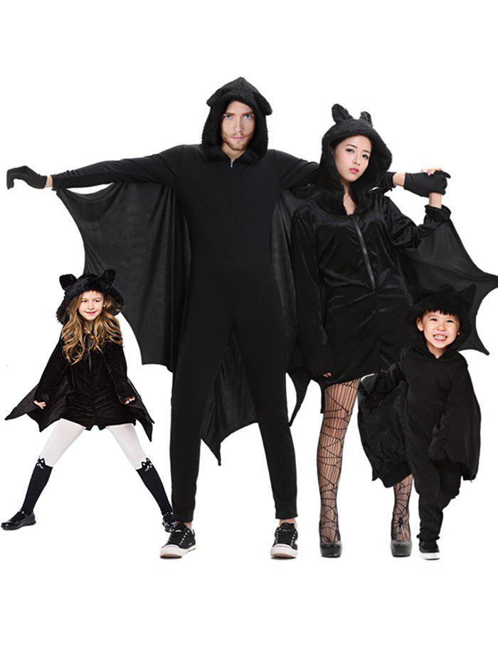 Parent Child Halloween Bat Costume Set - BLACK GIRL-XS