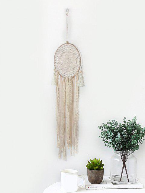 Handmade Lace Fringed Dream Catcher - BEIGE