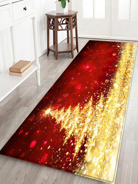 Shiny Christmas Tree Printed Antiskid Area Rug - GOLD W16 X L47 INCH