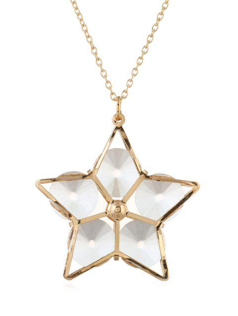 Alloy Star Elegant Pendant Necklace - GOLD