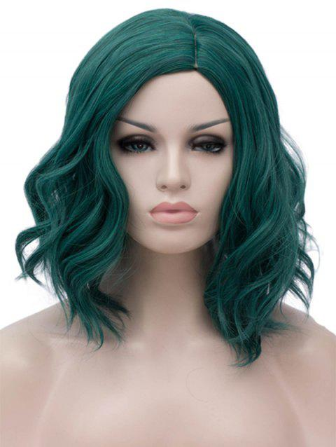 Medium Side Parting Wavy Anime Cosplay Synthetic Wig - MEDIUM SEA GREEN