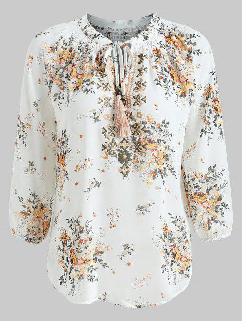 35 off 2018 keyhole floral print blouse in white l dresslily keyhole floral print blouse white l mightylinksfo