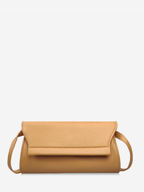 Chic Daily Shopping Solid Crossbody Bag - LIGHT BROWN