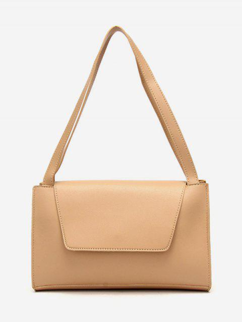 Vintage PU Leather Shoulder Bag - APRICOT