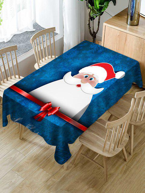 Christmas Santa Claus Print Waterproof Dining Tablecloth - BLUE W54 X L54 INCH