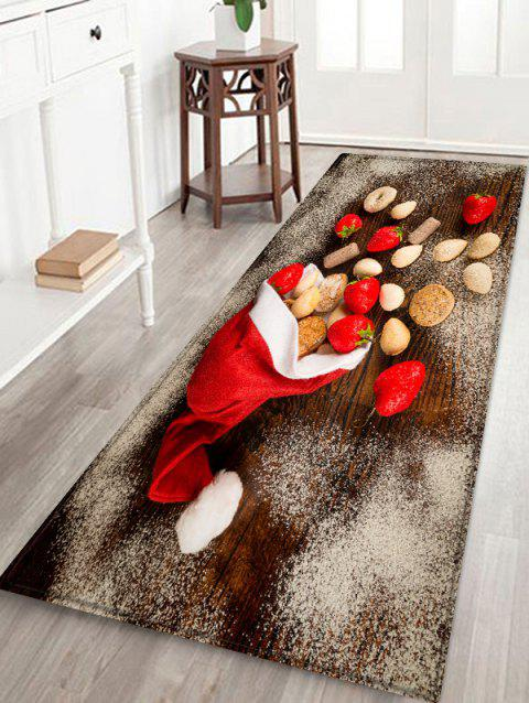 Christmas Cap and Biscuits Printed Area Rug - ROSSO RED W16 X L47 INCH