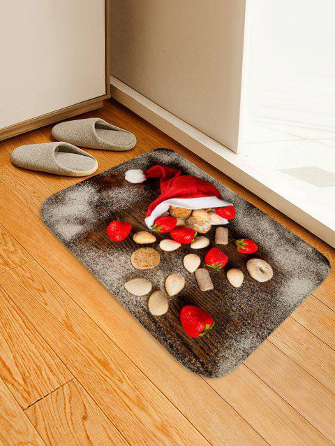 Christmas Cap and Biscuits Printed Area Rug - ROSSO RED W20 X L31.5 INCH