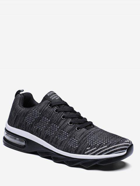 Breathable Knit Mesh Athletic Sneakers - WHITE EU 43
