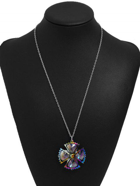 Vintage Floral Alloy Gift Necklace - multicolor