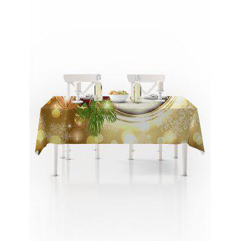 Christmas Bells Print Waterproof Tablecloth - multicolor W54 X L72 INCH