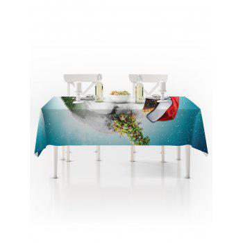 Christmas Earth Print Waterproof Tablecloth - multicolor W60 X L84 INCH