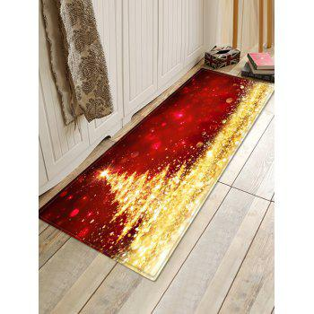 Shiny Christmas Tree Printed Antiskid Area Rug - BLONDE W24 X L71 INCH