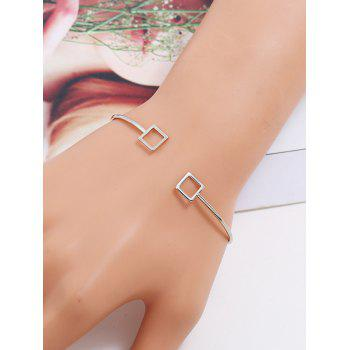 Stylish Hollow Out Square Cuff Bracelet - GOLD