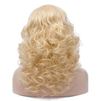 Long Side Parting Synthetic Cosplay Curly Wig - BLONDE