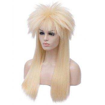 Longue Shaggy Straight Halloween Party Alacos Rock Star Cosplay Perruque - Blonde