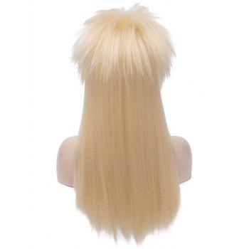 Long Shaggy Straight Halloween Party Alacos Rock Star Cosplay Wig - BLONDE