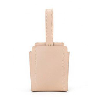 Minimalist PU Leather Vintage Handbag - LIGHT KHAKI