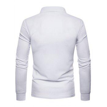 Whole Colored Polo Collar T-shirt - WHITE 2XL
