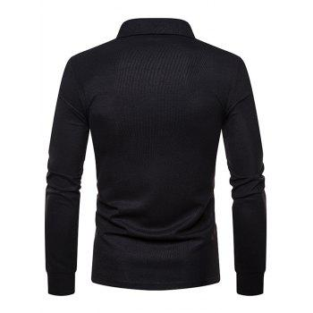 Whole Colored Polo Collar T-shirt - BLACK L
