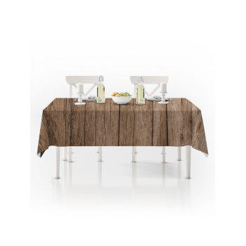 Wooden Board Print Waterproof Tablecloth - BURLYWOOD W54 X L54 INCH