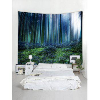 Forest Sunshine Pattern Tapestry Wall Art - multicolor W79 INCH * L59 INCH